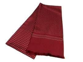 Sciarpa seta uomo tubolare bordeaux rosso a pois bianchi avantgarde 32c03c9e4071
