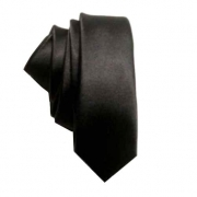 Cravatta nera cravattino punk skinny tie made in italy