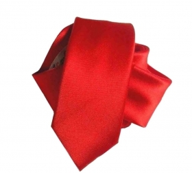 Cravatta rossa slim size cravattino rosso red skinny tie made italy top qualita