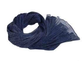 289f8b0a2dcbcb Stola donna blu magliina lurex scialle coprispalle uso sciarpa pashmina