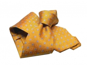 Cravate seda made italy arancione orange corbata necktie micro fiorellini class