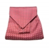 Cashe col uomo ascot foulard rosso bordeaux disegni beige made in italy