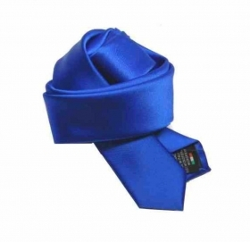Cravatta blu royal bambino cravattino bimbo made italy