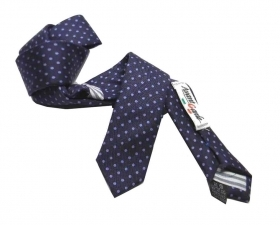 Cravatta a pois blu e azzurra a pallini azzurri bambino seta pura made italy b37fab79fc58