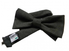 Papillon grigio antracite lana denim cravatta farfalla wool grey bow tie m italy