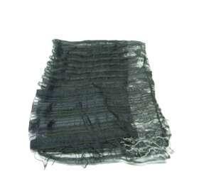 46861c4901db Stola donna da sera nera bordi grigi metallo scialle cerimonia nero grigio  seta