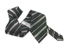 Cravatta a righe nera e bianca black and white necktie