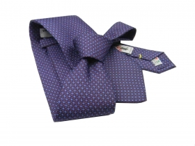 Cravatta seta stampata bordeaux cravatte silk tie dis classico made in italy