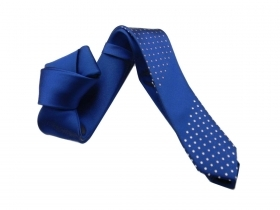Cravatta skinny tie blu royal
