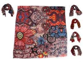 design senza tempo 371c8 5f7c9 Sciarpe rosse per donna pashmina rossa in tanti disegni a scelta