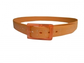 Cintura gomma arancione cinture fibia plastica nickel free orange rubber belt